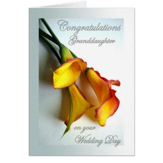 Glückwünsche für Enkelin am Hochzeitstag Grußkarte