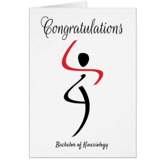 Glückwünsche für Junggesellen von Kinesiologie Grußkarte