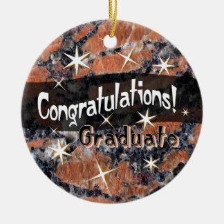 Glückwünsche graduieren Andenken-Verzierung Keramik Ornament