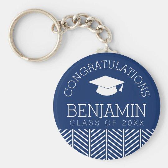 Glückwünsche graduieren - personalisierten standard runder schlüsselanhänger