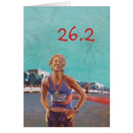 Glückwünsche kardieren für Marathoner - 26,2 Karte