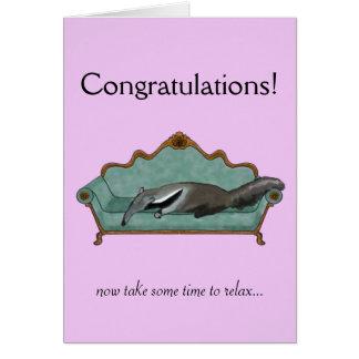 Glückwünsche kardieren mit niedlichem Anteater Grußkarte