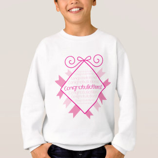 Glückwünsche! rosa Quadrat Sweatshirt