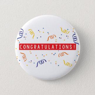 Glückwünsche Runder Button 5,7 Cm