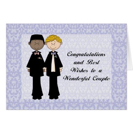 Glückwünsche und beste Wünsche homosexuelles Grußkarte