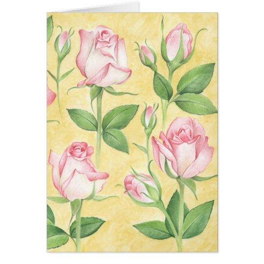 Glückwunschkarte Rosen Karte