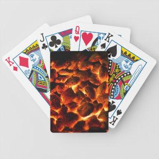 Glühende brennende Kohlen Bicycle Spielkarten