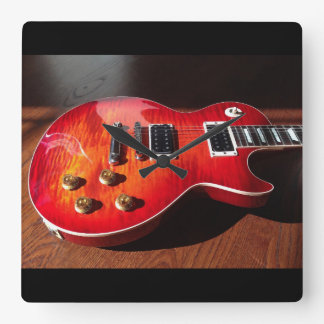 Glühende E-Gitarren-Uhr Uhr