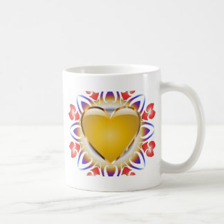 Glühende Herzprodukte Kaffeetasse