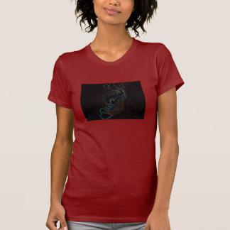 Glühende Katzen-Ränder T-Shirt
