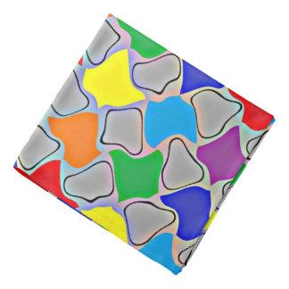 Glühende Kleckse eines RegenbogenBandana Kopftuch