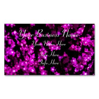 Glühende rosa Blumen-Lichter Magnetische Visitenkarten