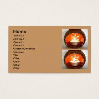 Glühende Tee-Kerze Visitenkarte