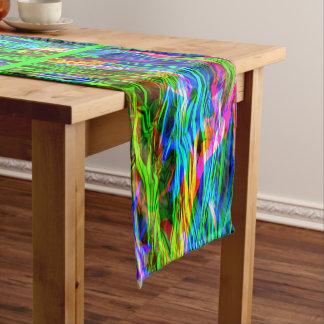 Glühender Regenbogen abstrakt Mittelgroßer Tischläufer