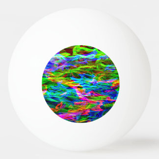 Glühender Regenbogen abstrakt Tischtennis Ball