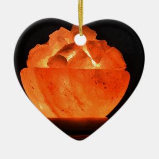 Glut-Feuer-Lust Keramik Herz-Ornament