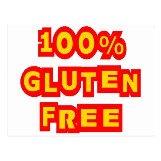 Gluten 100% geben frei postkarte