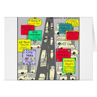 Gluten 606 geben Cartoon frei Grußkarte