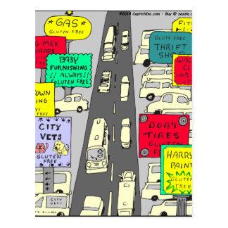 Gluten 606 geben Cartoon frei Postkarte