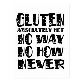 Gluten-freie abdominale Entwürfe keine Weise Postkarte