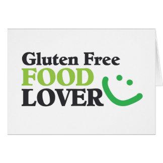 Gluten-freie Nahrungsmittelliebhabereinzelteile Grußkarte