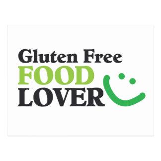 Gluten-freie Nahrungsmittelliebhabereinzelteile Postkarten