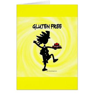 Gluten-Freier Whimsy Silhouette-Entwurf Grußkarte
