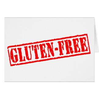 Gluten geben Briefmarke frei Karte