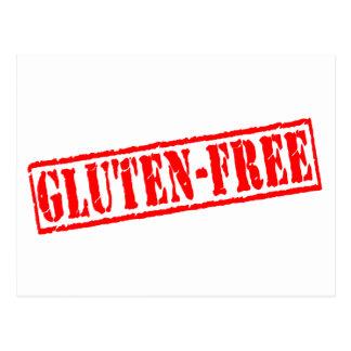 Gluten geben Briefmarke frei Postkarte