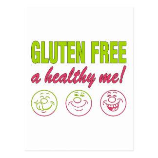 Gluten geben ein gesundes ich frei! postkarte