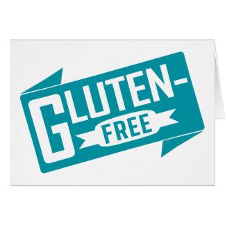 Gluten geben frei mitteilungskarte
