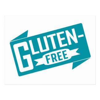 Gluten geben frei postkarte