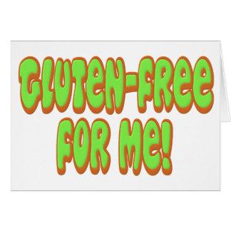 Gluten geben für mich frei grußkarte