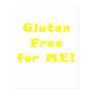Gluten geben für mich frei postkarte