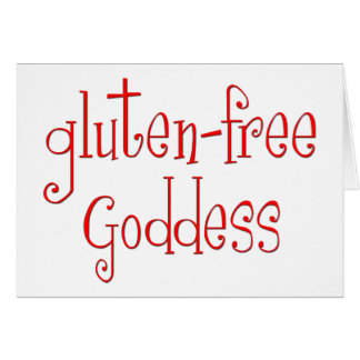 Gluten geben Göttin frei Grußkarte