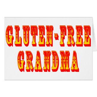 Gluten geben Großmutter frei Grußkarte