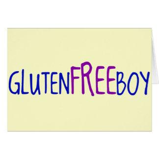 Gluten geben Jungen frei Karte