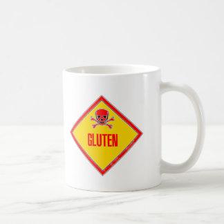 Gluten-Gift-Warnung Kaffeetasse