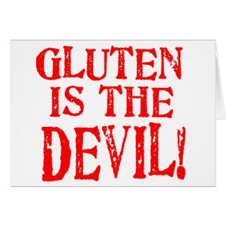 Gluten ist der Teufel Grußkarte