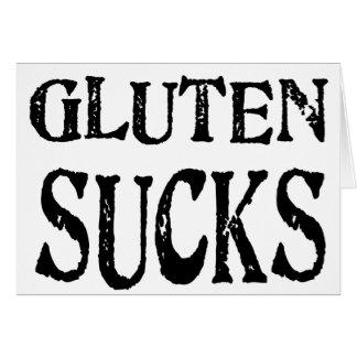 Gluten ist zum Kotzen Karte