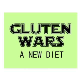 Gluten-Kriege: Ein neue Diät-abdominales Gluten Postkarte