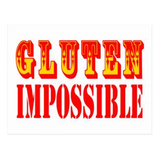 Gluten unmöglich postkarte