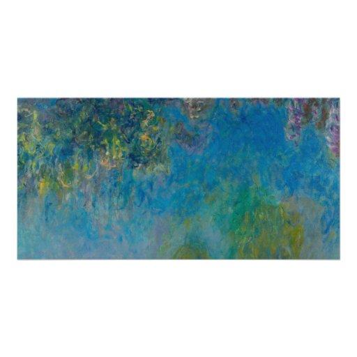 Glycines par Claude Monet Photocarte Personnalisée