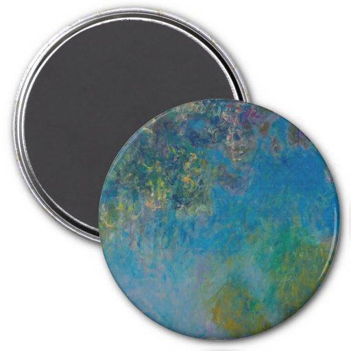 Glycines par Claude Monet Aimants Pour Réfrigérateur