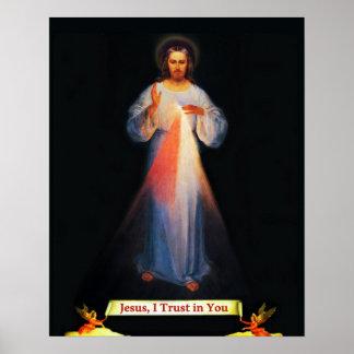 Gnaden-Sr Faustina Plakat Jesuss göttliches