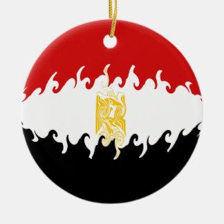 Gnarly Flagge Ägyptens Rundes Keramik Ornament