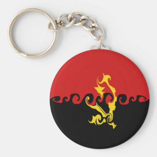 Gnarly Flagge Angolas Schlüsselanhänger