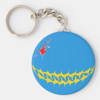 Gnarly Flagge Arubas Schlüsselanhänger