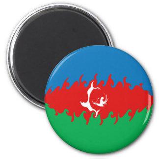Gnarly Flagge Aserbaidschans Kühlschrankmagnet