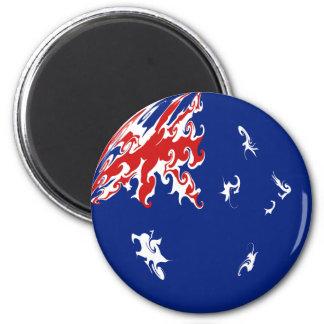 Gnarly Flagge Australiens Kühlschrankmagnete